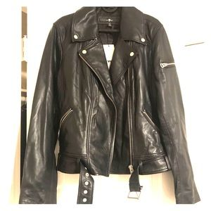 7 For All Mankind Leather jacket, size L